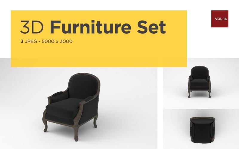 Luxus Sessel Vorderansicht Möbel 3d Foto Vol-16 Produktmodell