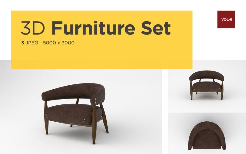 Luxus Sessel Vorderansicht Möbel 3d Foto Vol-6 Produktmodell