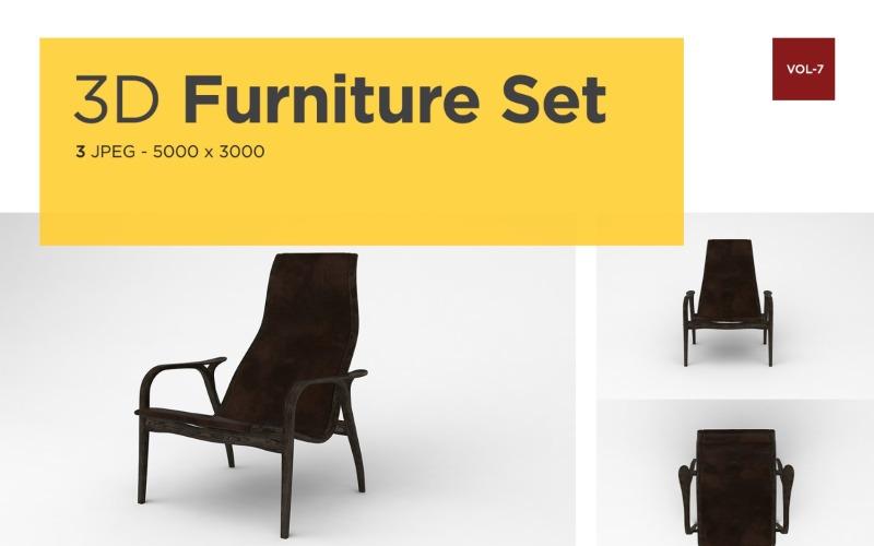 Luxus Sessel Vorderansicht Möbel 3d Foto Vol-7 Produktmodell