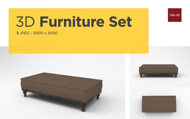 Moderne Daybed Vorderansicht Möbel 3d Foto Vol-23 Produktmodell