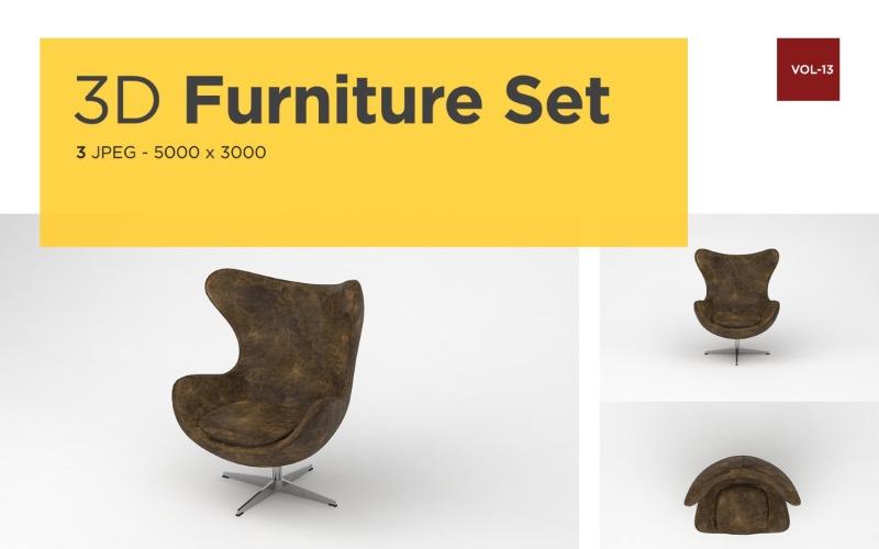 Moderner Sessel Vorderansicht Möbel 3d Foto Vol-13 Produktmodell