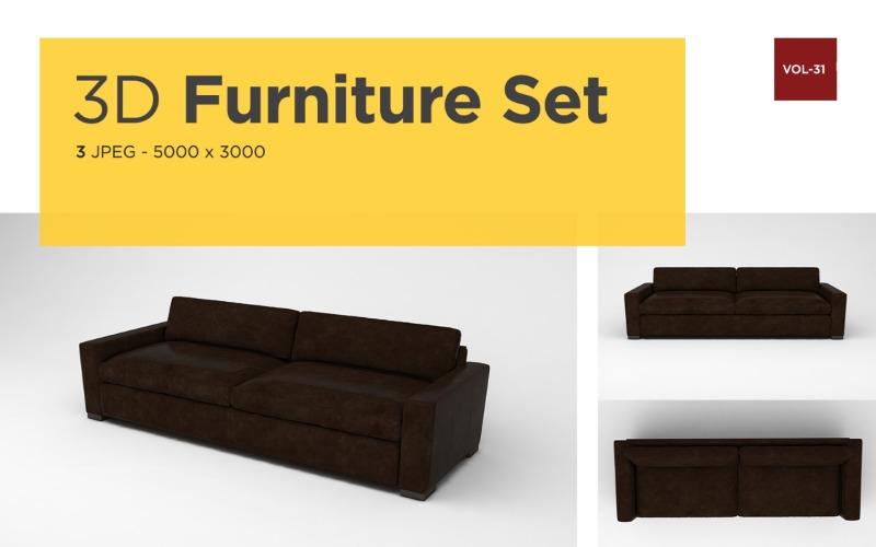 Moderner Sessel Vorderansicht Möbel 3d Foto Vol- 31 Produktmodell