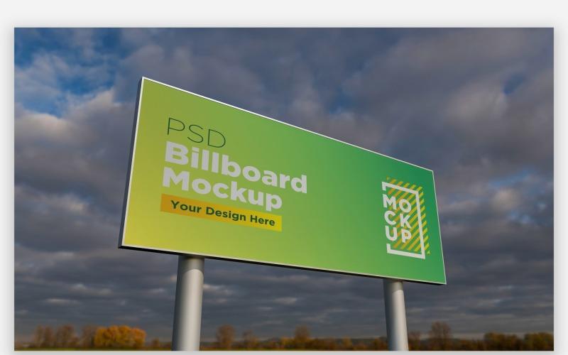 Zweipolige Billboard Mockup Vorderansicht