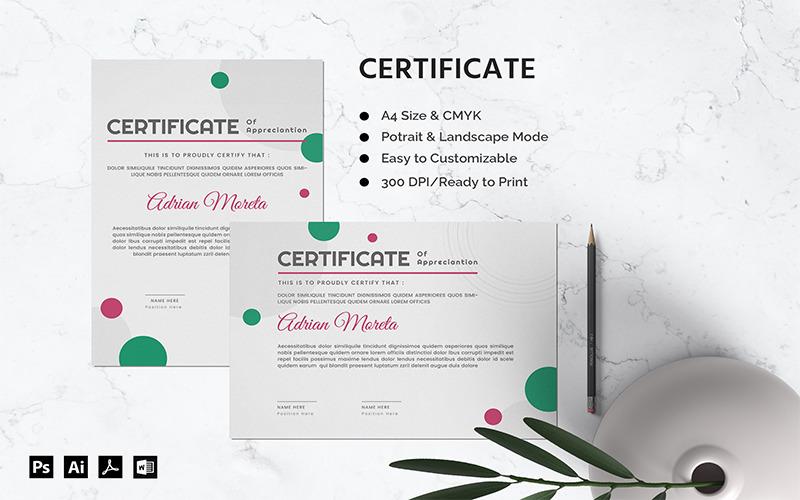 Adrian Moreta - Zertifikatvorlage
