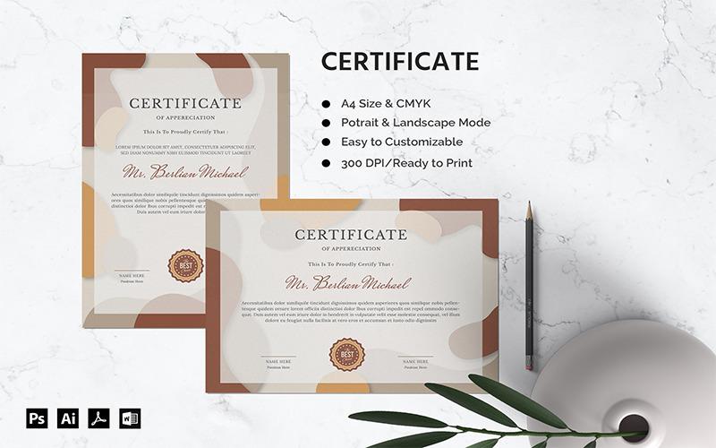 Berlian Michael - Zertifikatvorlage