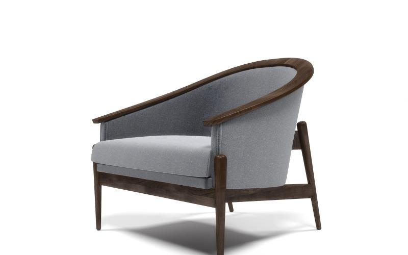 3D-Modell eines amerikanischen Sessels aus der Mitte des Jahrhunderts