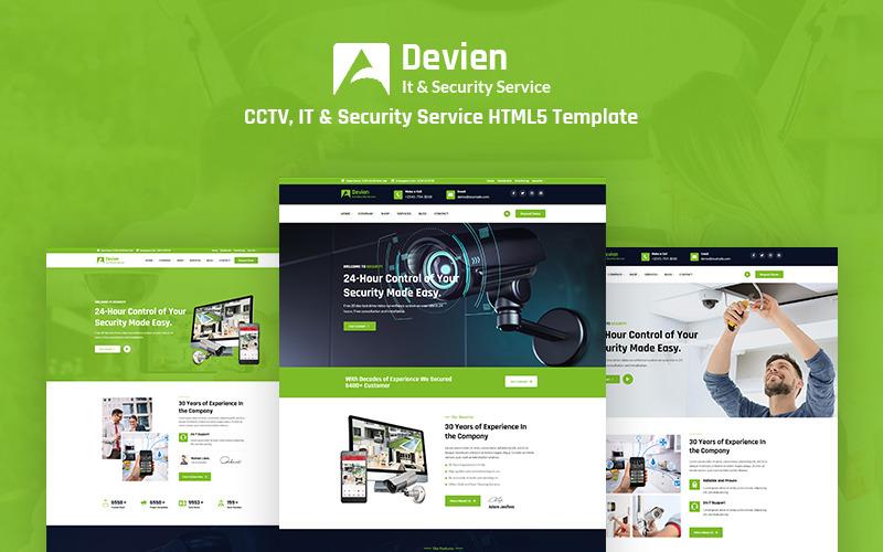 Devien - Responsive HTML5-Website-Vorlage für CCTV, IT und Sicherheitsdienste