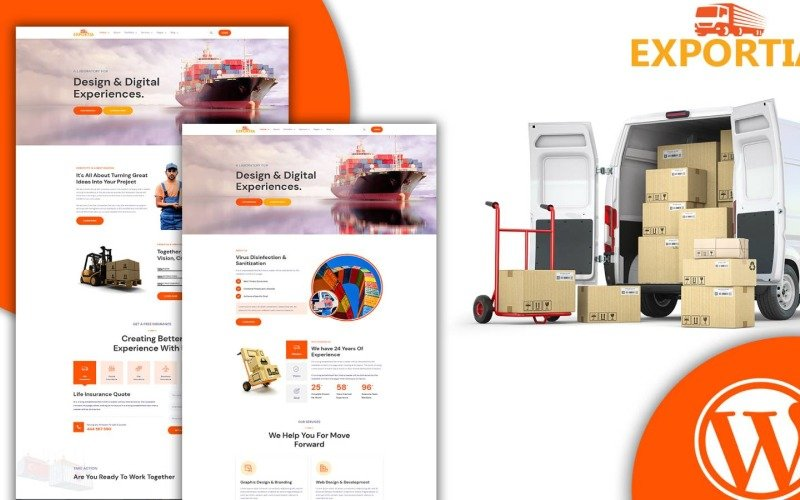 Expotia - Transportation and Logistic WordPress Theme