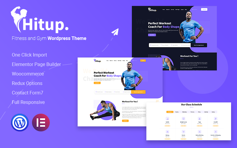 Hitup - Fitness und Fitness WordPress Theme