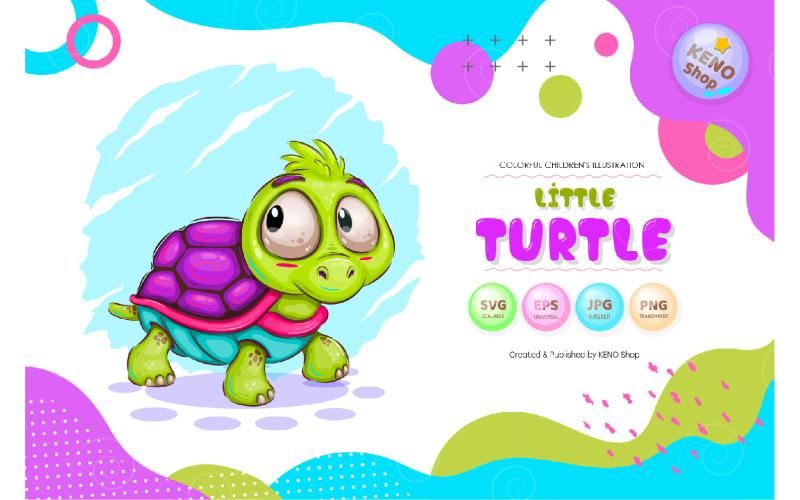 Kleiner oonartoon Turtle Vector