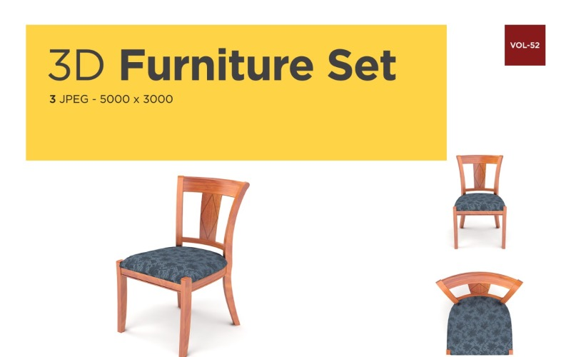 Luxus Sessel Vorderansicht Möbel 3d Foto Vol-52 Produktmodell