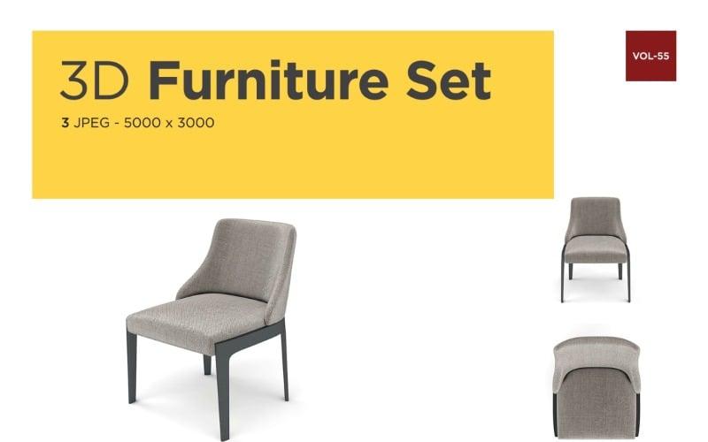 Luxus Sessel Vorderansicht Möbel 3d Foto Vol-55 Produktmodell