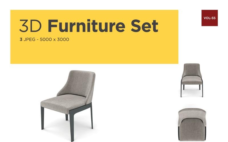 Luxus Sessel Vorderansicht Möbel 3d Foto Vol-56 Produktmodell