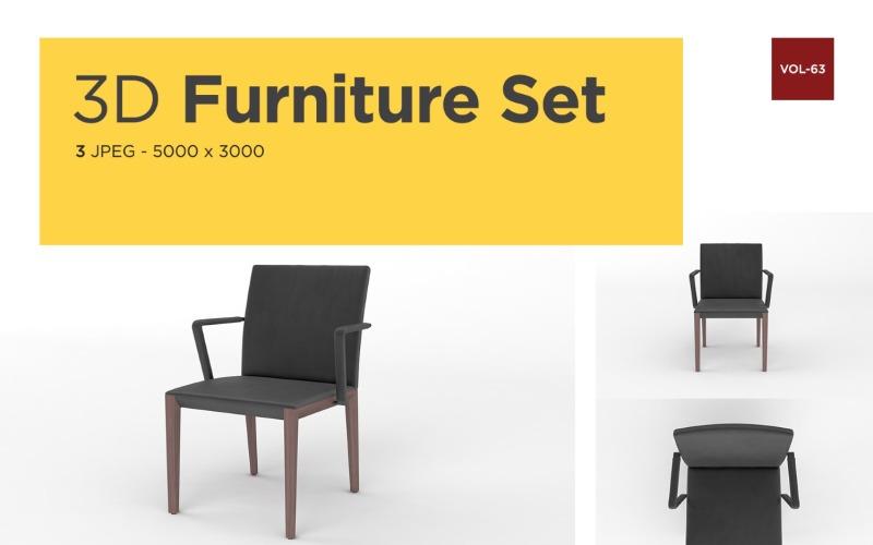 Luxus Sessel Vorderansicht Möbel 3d Foto Vol-63 Produktmodell