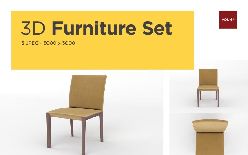 Luxus Sessel Vorderansicht Möbel 3d Foto Vol-64 Produktmodell