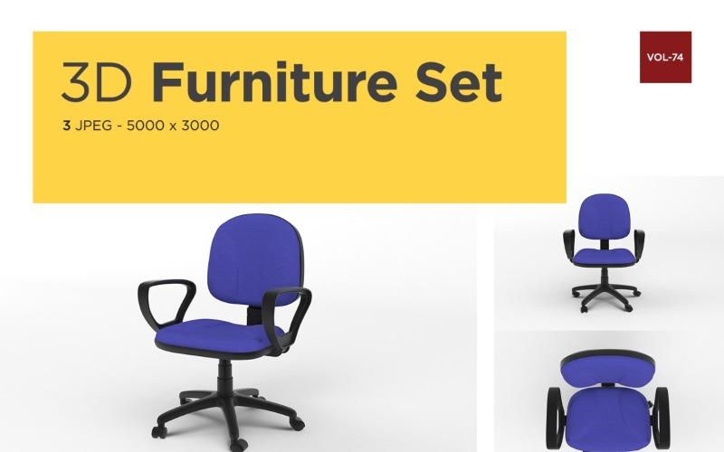 Luxus Sessel Vorderansicht Möbel 3d Foto Vol-74 Produktmodell