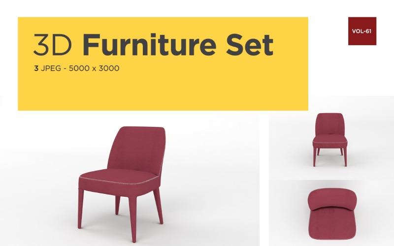 Moderner Sessel Vorderansicht Möbel 3d Foto Vol- 61 Produktmodell
