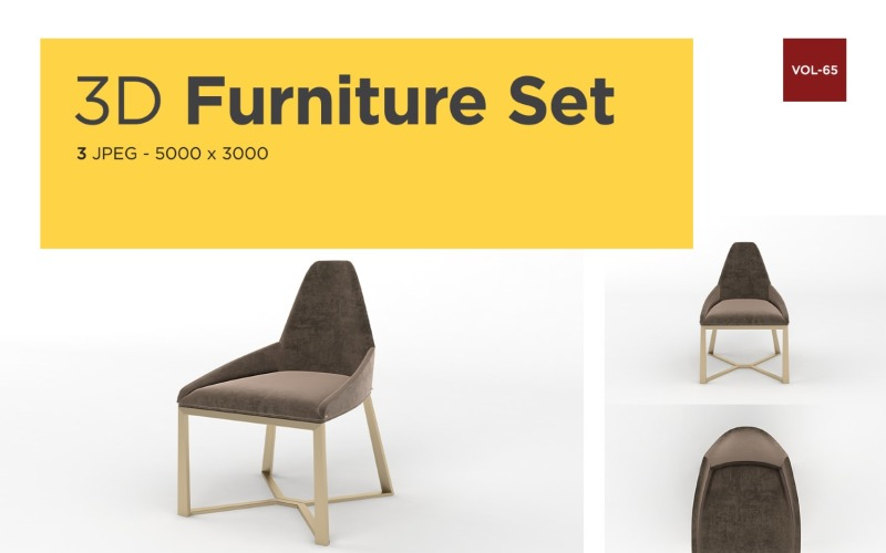 Moderner Sessel Vorderansicht Möbel 3d Foto Vol- 65 Produktmodell