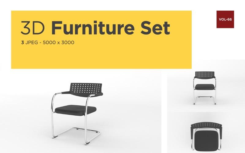 Moderner Sessel Vorderansicht Möbel 3d Foto Vol- 66 Produktmodell