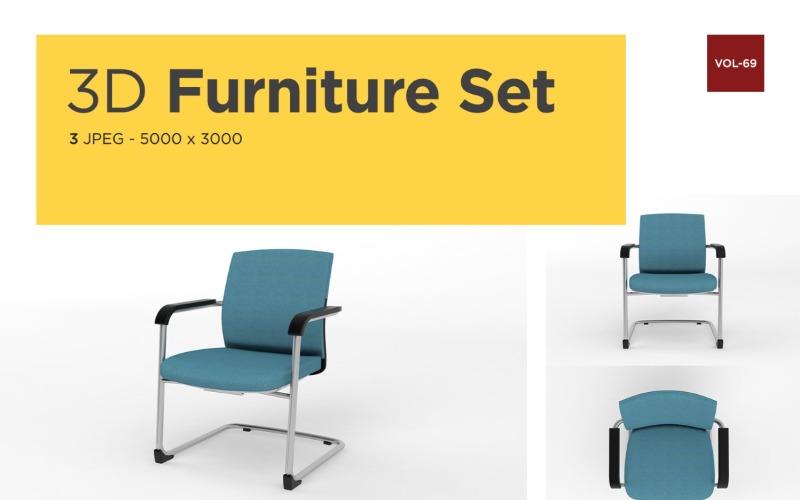Moderner Sessel Vorderansicht Möbel 3d Foto Vol- 69 Produktmodell