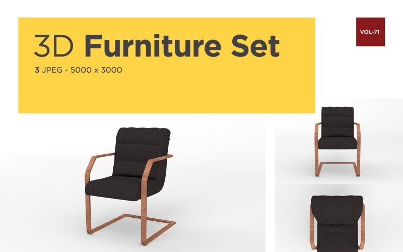 Moderner Sessel Vorderansicht Möbel 3d Foto Vol- 71 Produktmodell