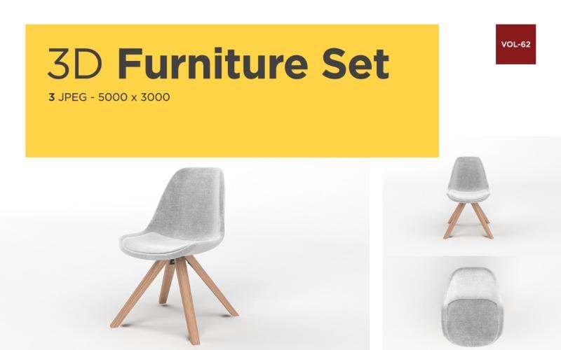Moderner Sessel Vorderansicht Möbel 3d Photo Vol- 62 Product Mockup
