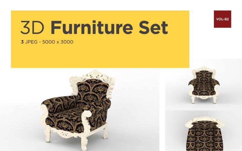 Modernes Sofa Vorderansicht Möbel 3d Foto Vol-82 Produktmodell