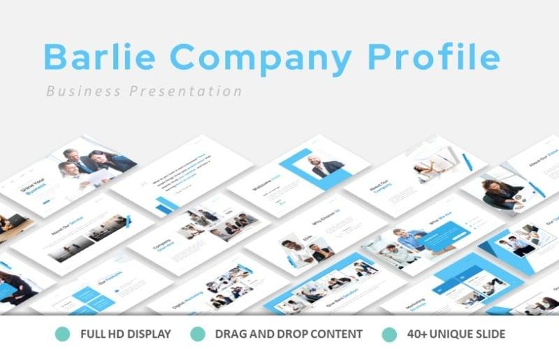 Präsentation des Firmenprofils von Barlie