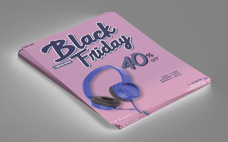 Black Friday Sale Flyer Corporate Identity Vorlage