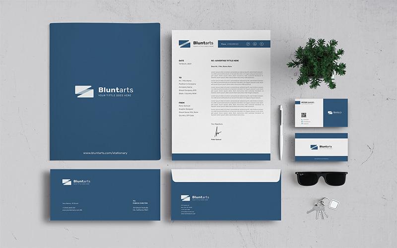 Bluntarts - Briefpapier Vorlage für Corporate Identity