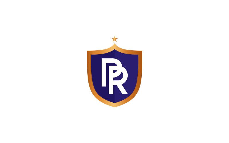 Brief PR Monogramm Buchhaltung Finanz Logo Vorlage