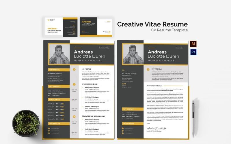 Druckbare Lebenslaufvorlagen für Creative Vitae CV