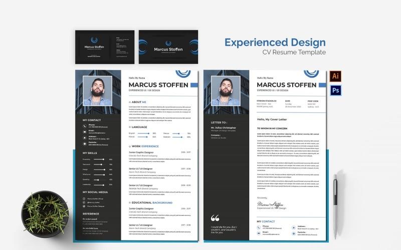 Druckbare Lebenslaufvorlagen für erfahrene Design-Lebensläufe