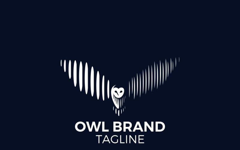 Eulen-Logo - Weißes Eulen-Logo - Eulen-Logo-Vorlage