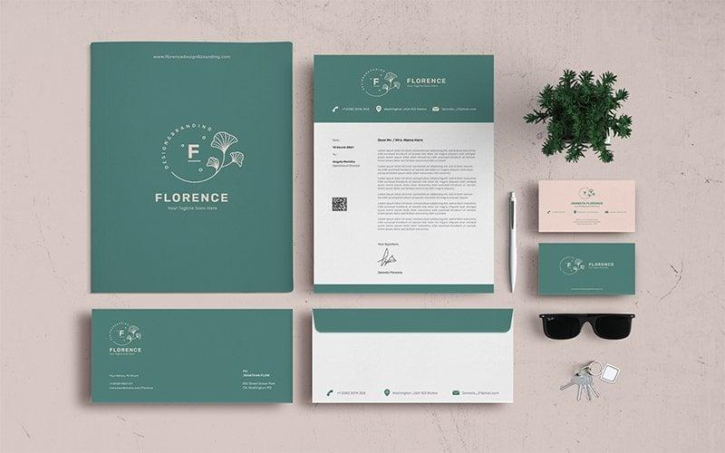 Florence - Briefpapier Vorlage für Corporate Identity