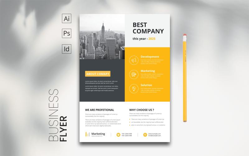 Minimaler Flat Business Flyer