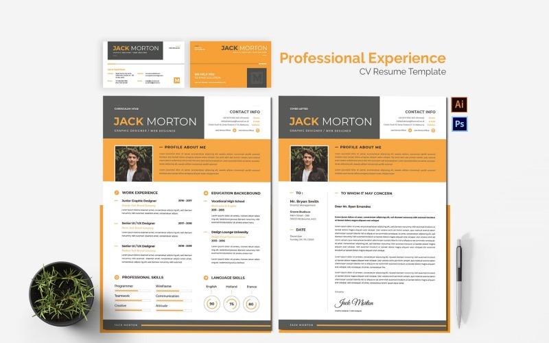 Modèles de CV imprimables d'expérience professionnelle