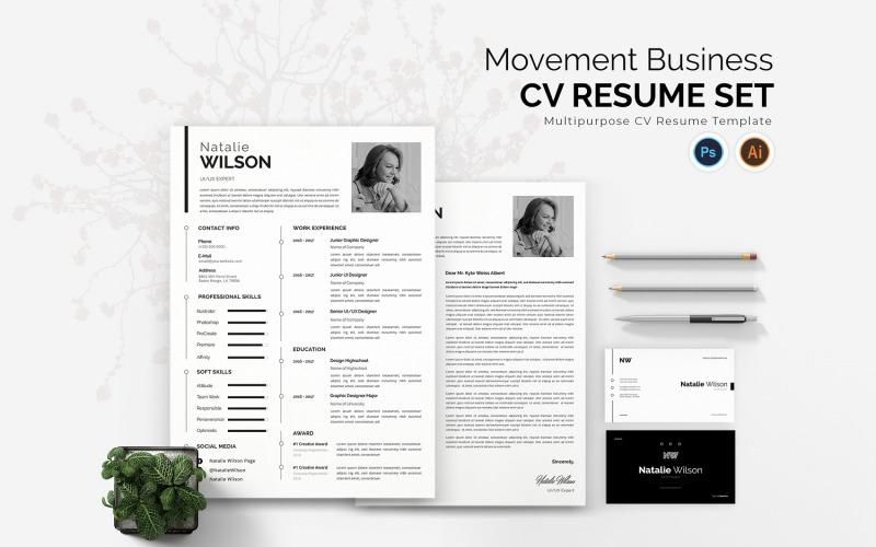 Modèles de CV imprimables Movement Business CV
