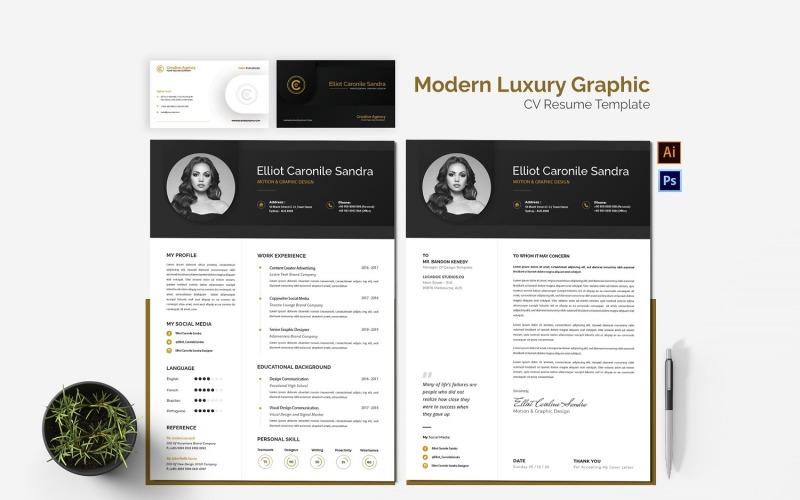 Moderne Luxus Grafik Lebenslauf druckbare Lebenslauf Vorlagen