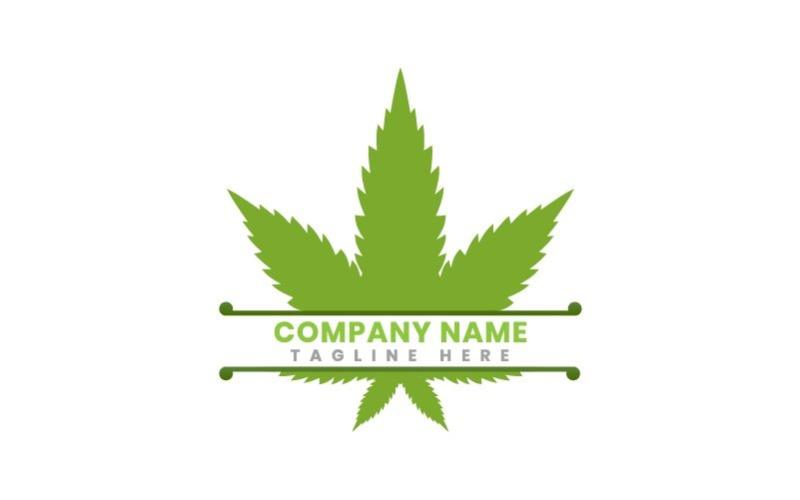Natürliche Hanf Business Logo Vorlage