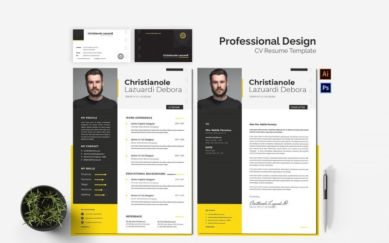Professioneel ontwerp CV afdrukbare CV-sjablonen