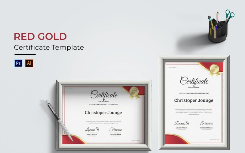 Rotgold-Zertifikatvorlage