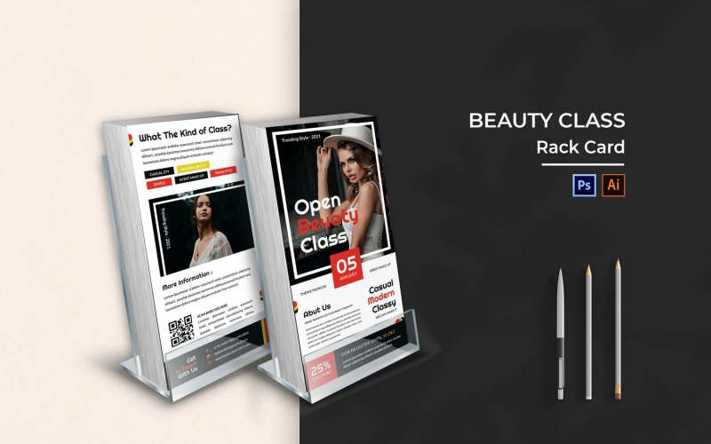 Beauty Class Rack Card Broschüre