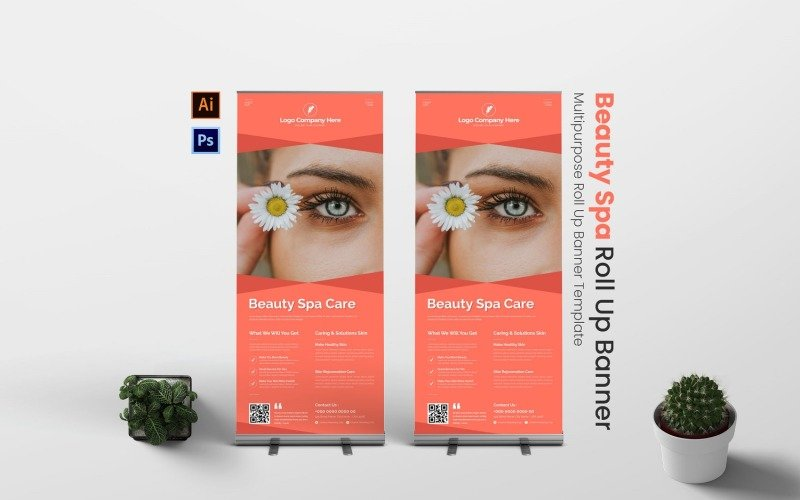 Beauty Spa Roll Up Banner