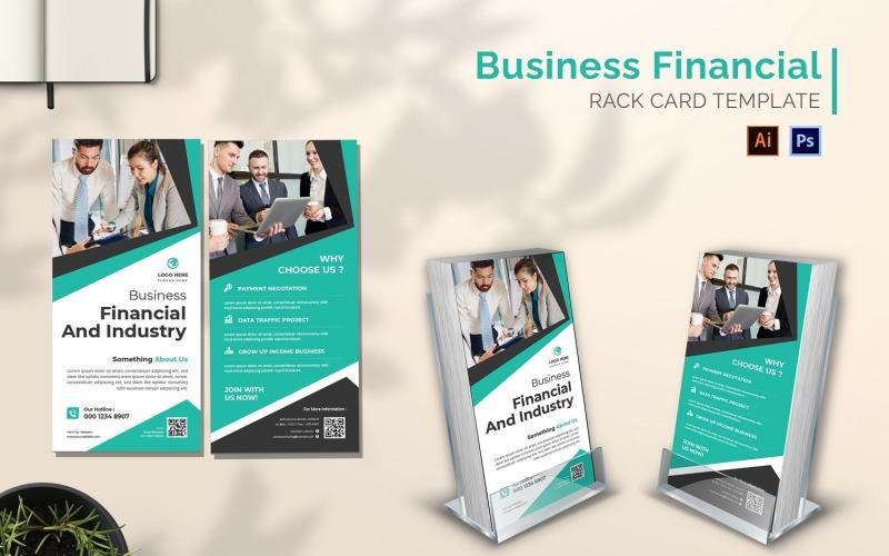 Business Financial Rack Card Broschüre