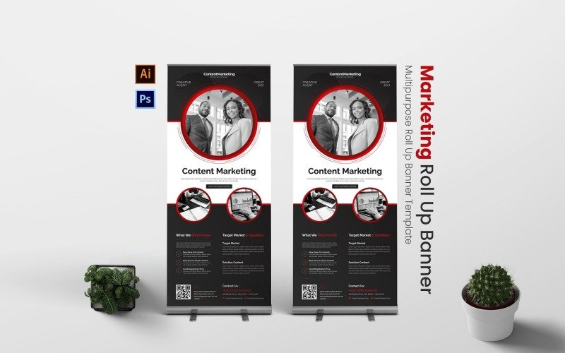 Content Marketing Roll Up Banner