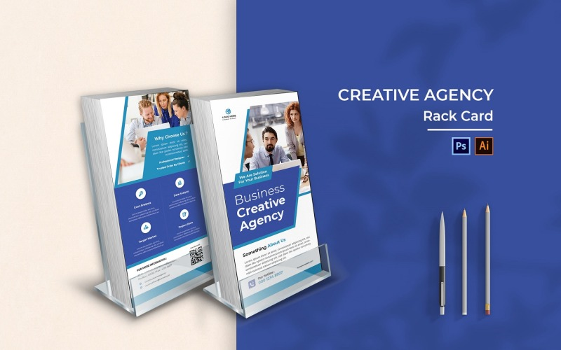 Creative Agency Rack Card Broschüre