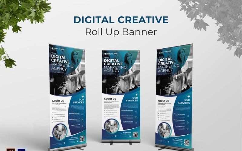 Digitales kreatives Roll-Up-Banner
