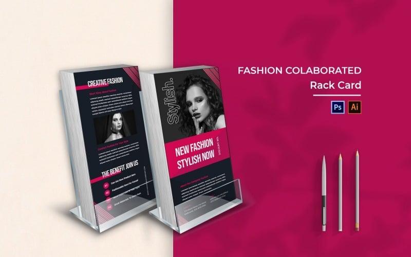 Fashion Colaborate Rack Card Broschüre
