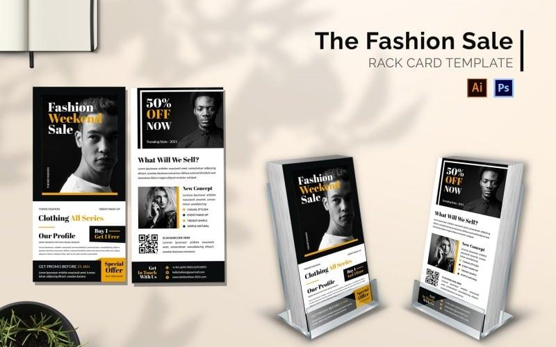 Fashion Sale Rack Kartenbroschüre